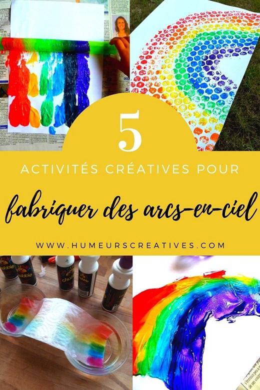 5 activités créatives pour fabriquer des arcs en ciel avec les enfants