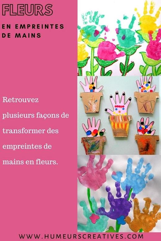 Idées pour réaliser des fleurs en empreintes de mains avec les enfants