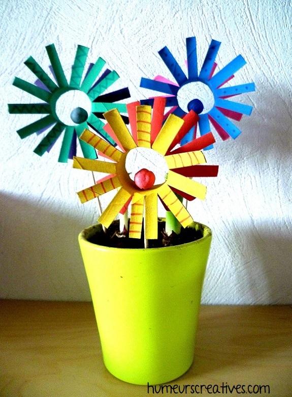 bricolage 2 : des fleurs soleil