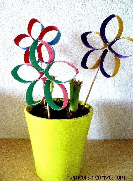 bricolage 1 : des fleurs marguerites