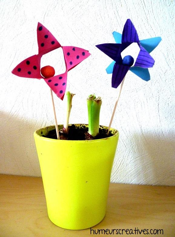 bricolage 3 : des fleurs triangles