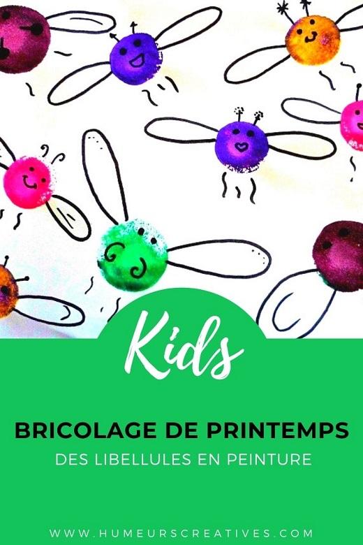Bricolage pour enfants : créer des libellules avec de la peinture