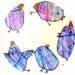 bricolage de paques : poules réalisées avec les enfants