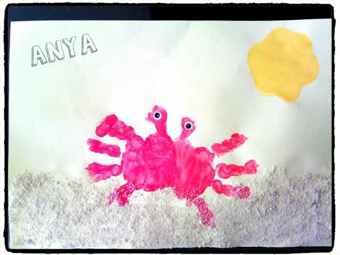 Les petits crabes sur le sable