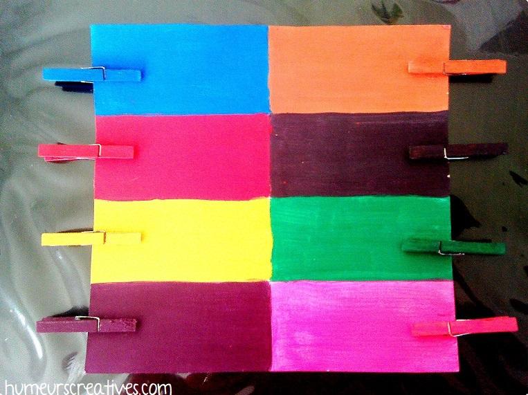 jeu tri de couleurs à faire avec les enfants
