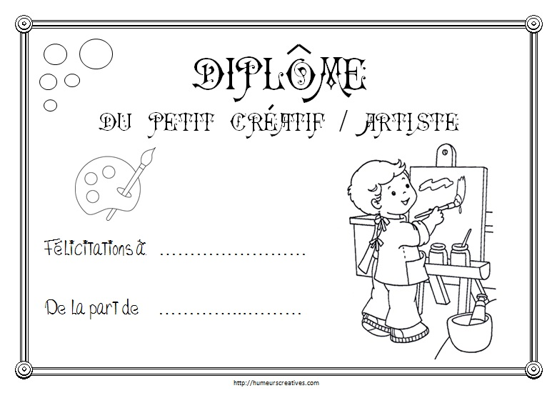 Diplome creatif