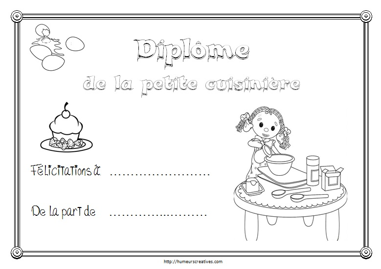 Diplome cuisiniere
