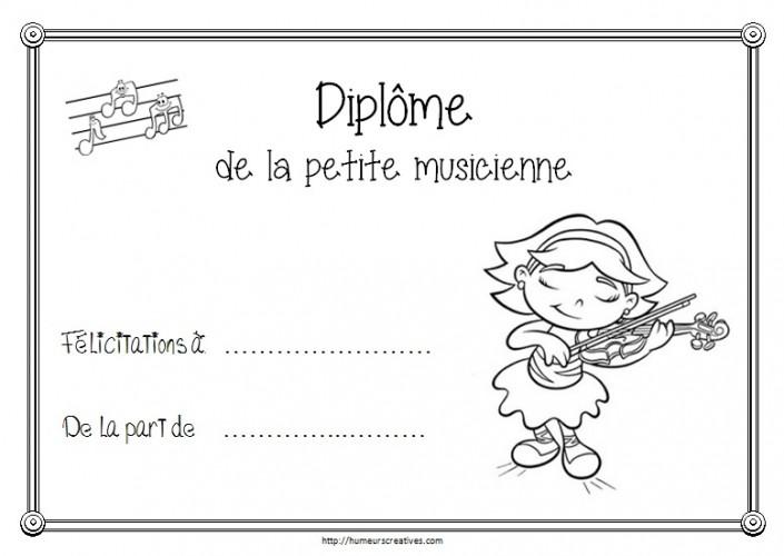 Diplome musicien / musicienne