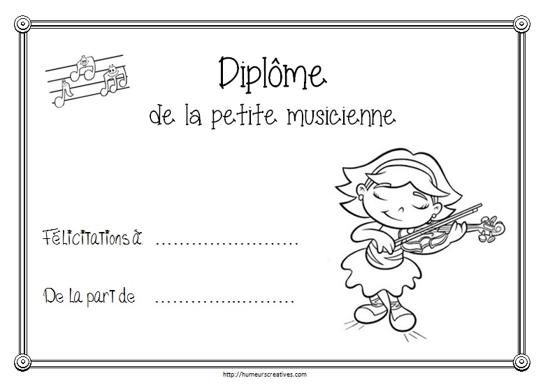 Diplome musicienne