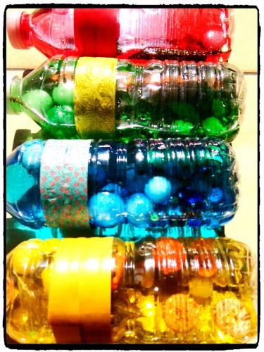 Bouteilles colorées