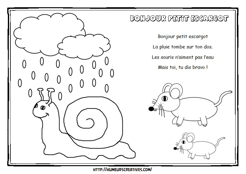 Illustration Bjr petit escargot
