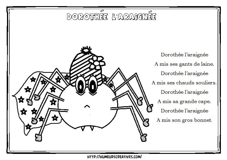 Illustration Dorothée l'araignée