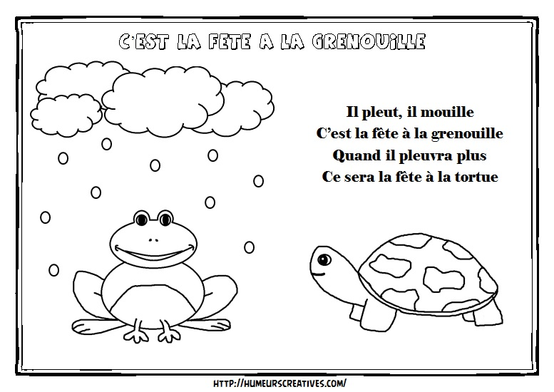 Illustration fete a la grenouille