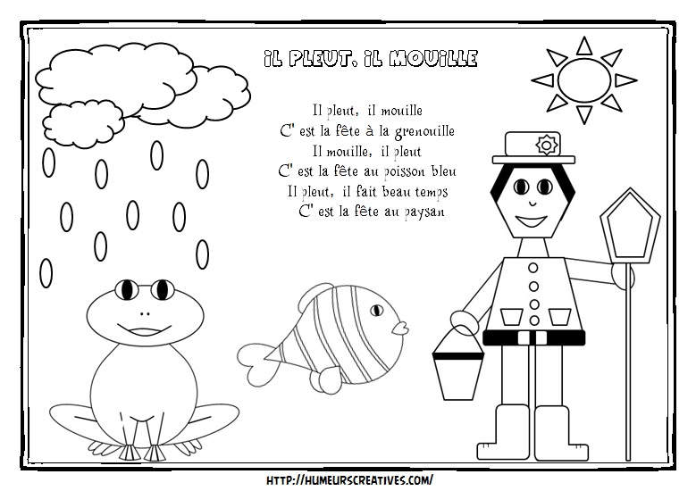 Illustration il pleut il mouille