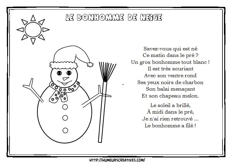 Illustration le bonhomme de neige