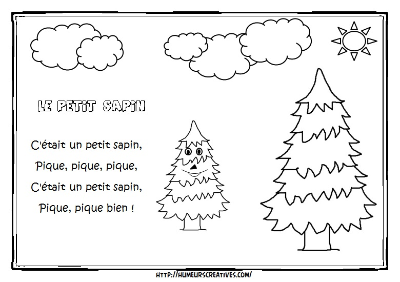 Illustration le petit sapin