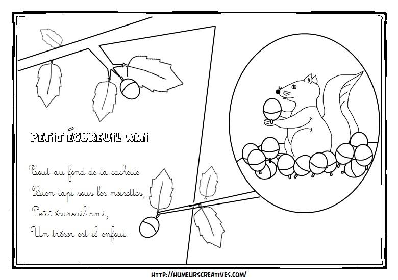 Illustration petit ecureuil ami