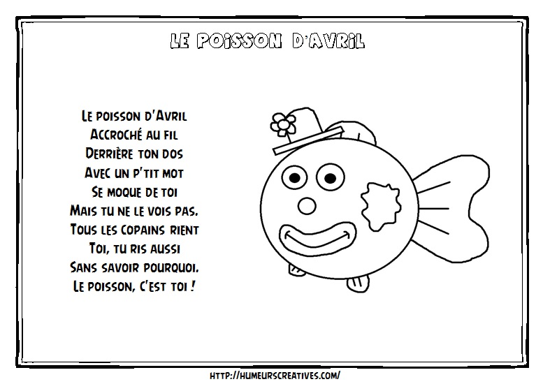Illustration poisson d'avril