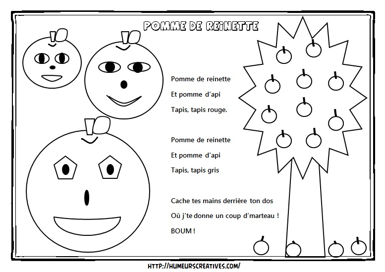 Illustration pomme de reinette