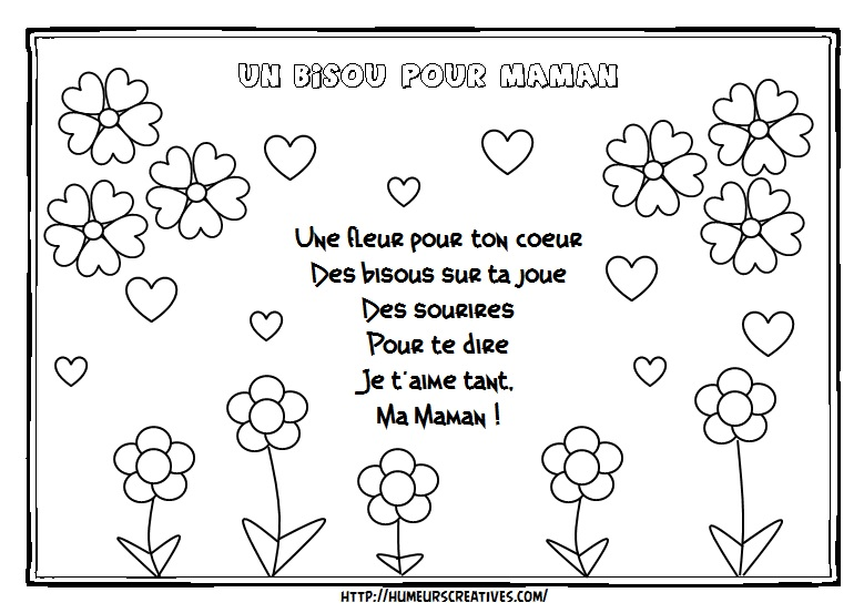 Illustration un bisou pour maman