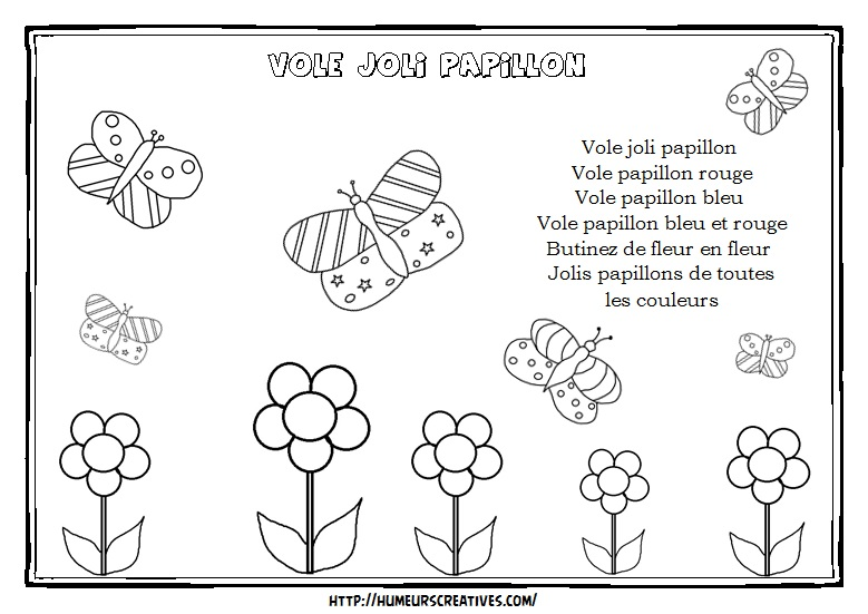 Illustration vole joli papillon