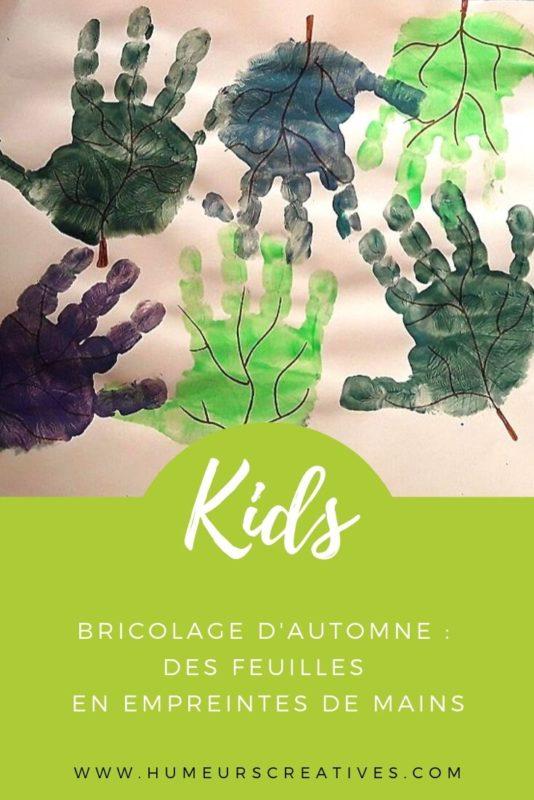 Bricolage d'automne pour enfants : réaliser des feuilles d'arbre en empreintes de mains