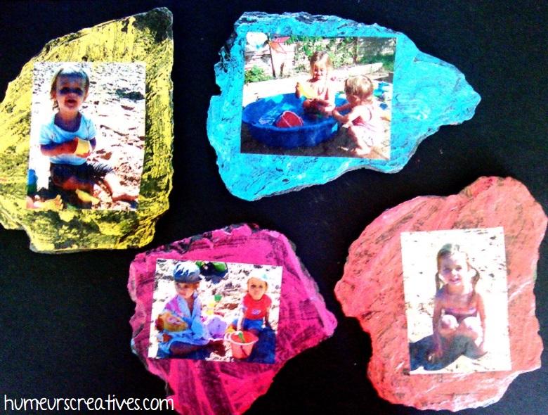 Cadre photo avec ardoises pour la fête des mères