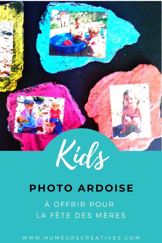 Cadre photo avec ardoise : un bricolage pour enfants à réaliser pour la fete des meres