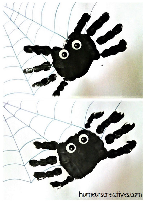 araignées en empreintes de mains