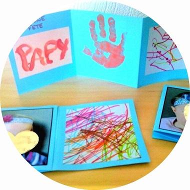 Carte à fabriquer avec les petits pour la fete des papys