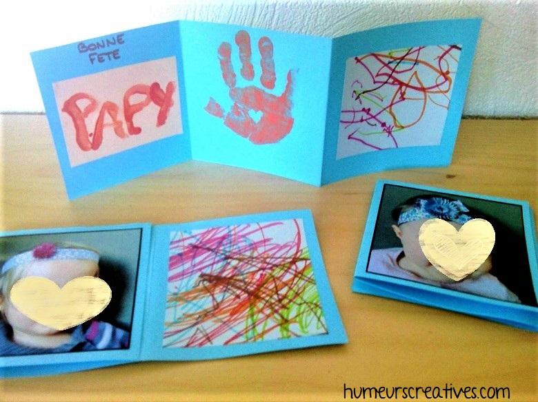 carte fait maison par les petits pour la fete des papys