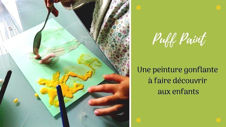 La recette de la peinture gonflante ou puff paint