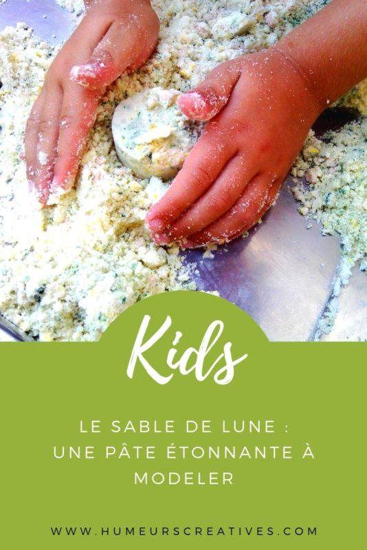 Activité patouilles : la recette du sable de lune ou pâte de nuage