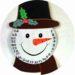 Bricolage calendrier de l'avent en forme de bonhomme de neige