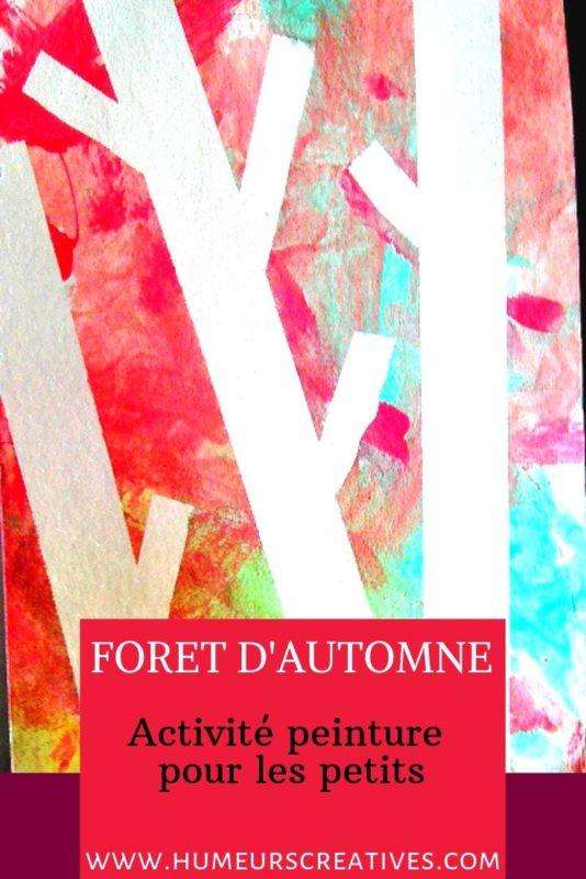 Bricolage d'automne pour enfants : réaliser une forêt en peinture