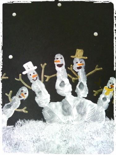 Une ribambelle de bonhommes de neige