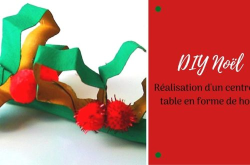 Bricolage de Noël pour enfants : fabriquer du houx avec des rouleaux de papier toilette