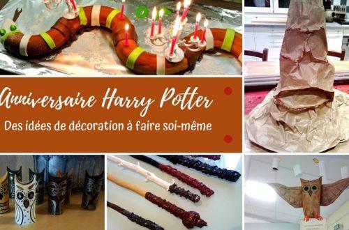 Organiser un anniversaire Harry Potter avec des décorations faites maison