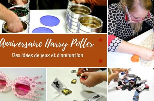 des idées de jeux et animation pour organiser un anniversaire harry Potter