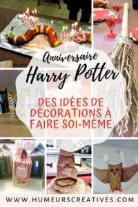 Organiser un anniversaire Harry Potter facilement avec de la décoration fait maison