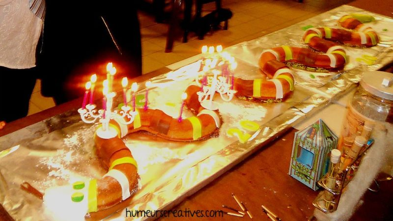 gateau d'anniversaire harry potter en forme de serpent