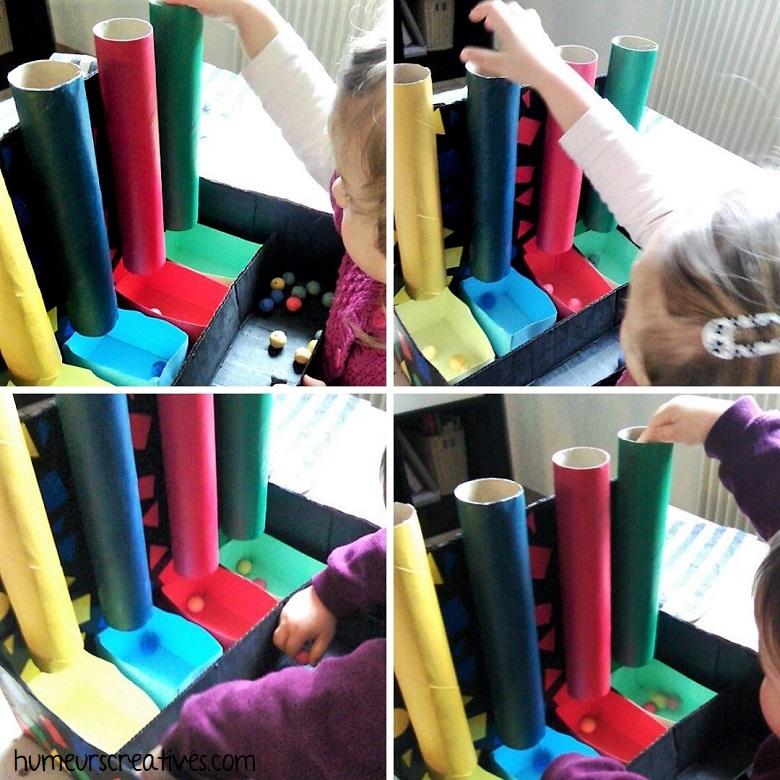 trier les couleurs, activité ludique pour enfants