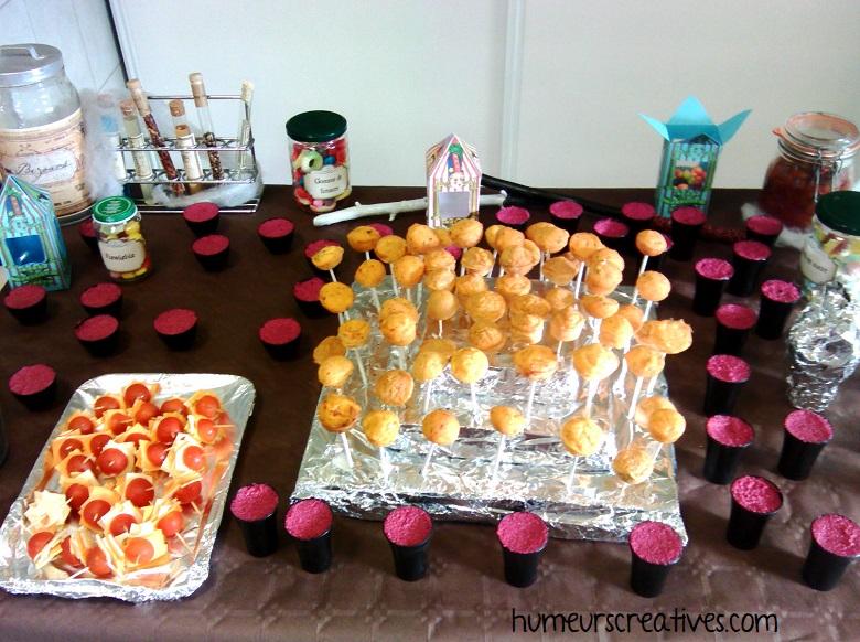 buffet pour un anniversaire harry potter