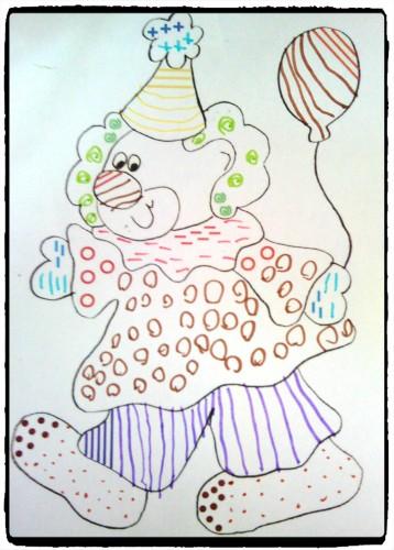 Clown en graphisme