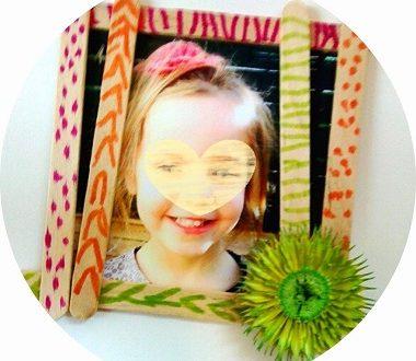 cadre photo en bois pour la fete des mamans