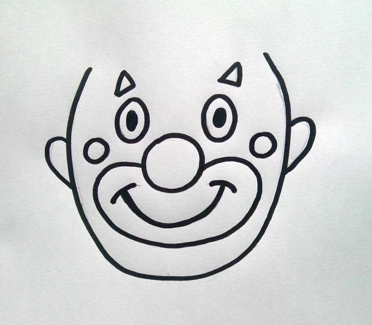 gabarit tete de clown à imprimer