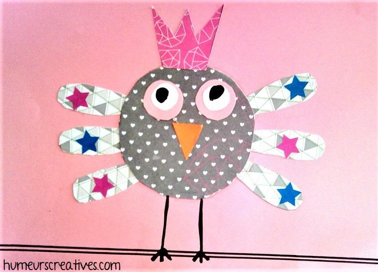 oiseau roi en papier