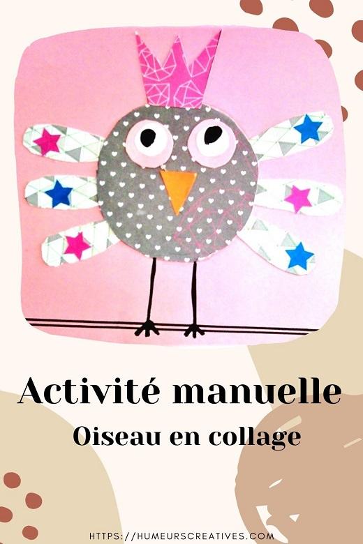 Bricolage pour enfant : réaliser un oiseau en papier collage