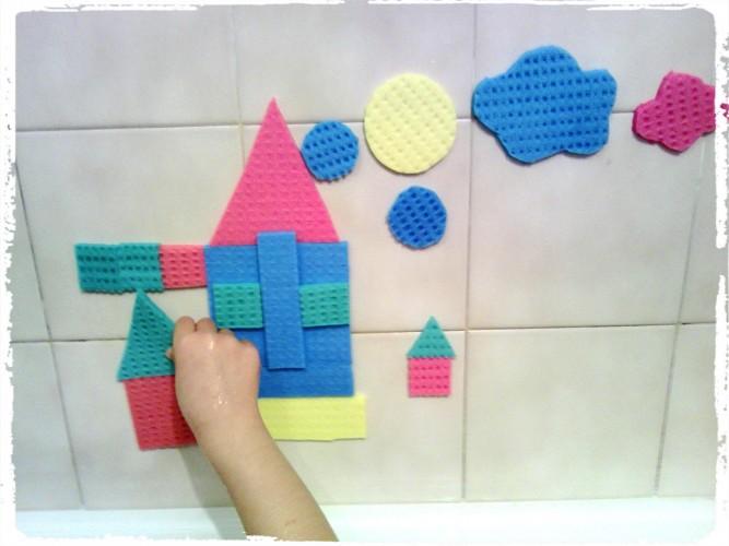 Jouer au tangram dans son bain