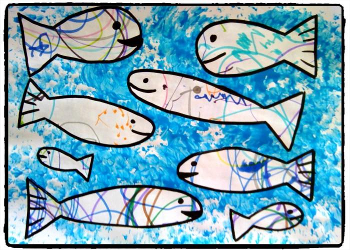 Des poissons graffitis